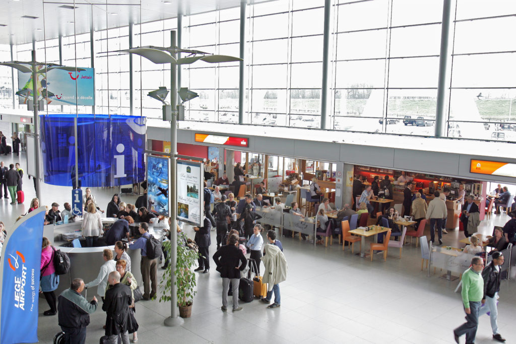 Terminal passagers Liege Airport